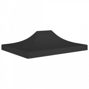 Acoperiș pentru cort de petrecere, negru, 4 x 3 m, 270 g/m²
