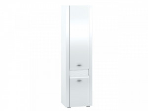 Arko 02 (Dulap de lenjerie) White/White High Gloss