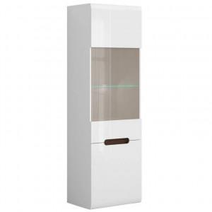 Azteca 014 vitrina reg1w1d/21/6 white/white high gloss
