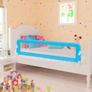 Balustradă de pat protecție copii, 2 buc, albastru, 150 x 42 cm