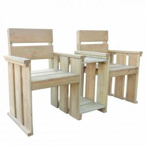 Bancă de grădină cu 2 locuri 150 cm lemn de pin tratat FSC