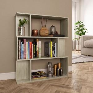Bibliotecă/Separator cameră, stejar Sonoma, 80x24x96 cm, PAL