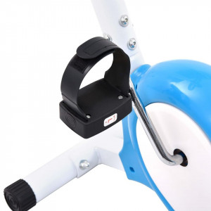 Bicicletă fitness cu centură de rezistență, albastru