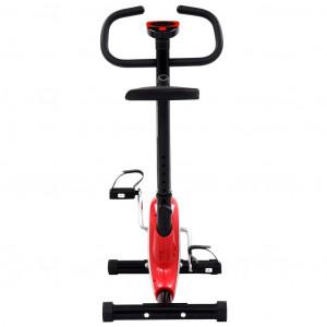 Bicicletă fitness cu centură de rezistență, roșu