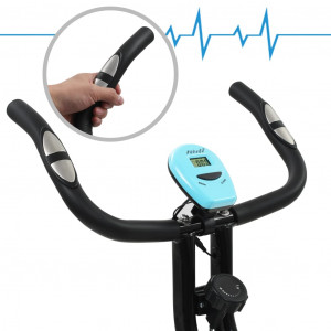 Bicicletă magnetică X-Bike cu măsurare puls, negru și albastru
