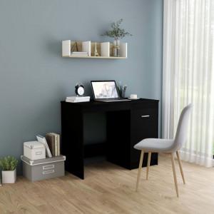Birou, negru, 100 x 50 x 76 cm, PAL