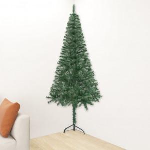 Brad de Crăciun artificial de colț, verde, 240 cm, PVC