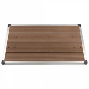 Cădiță de duș de exterior maro 110x62 cm WPC și oțel inoxidabil