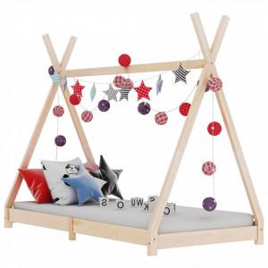 Cadru de pat pentru copii, 90 x 200 cm, lemn masiv de pin