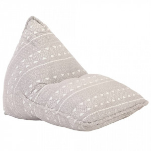 Canapea tip sac, maro deschis, material textil, petice