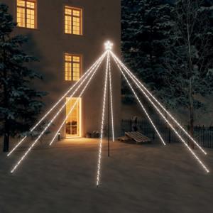Cascadă lumini brad Crăciun 800 leduri alb rece 5 m, int./ext.