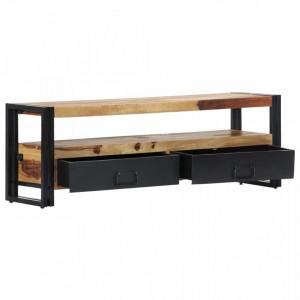 Comodă TV, 120x30x40 cm, lemn masiv de sheesham