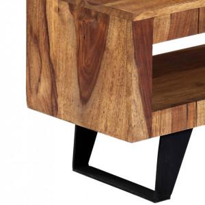 Comodă TV, 140 x 30 x 40 cm, lemn masiv de sheesham