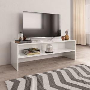Comodă TV, alb foarte lucios, 120 x 40 x 40 cm, PAL