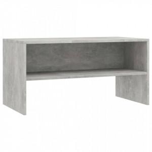 Comodă TV, gri beton, 80x40x40 cm, PAL