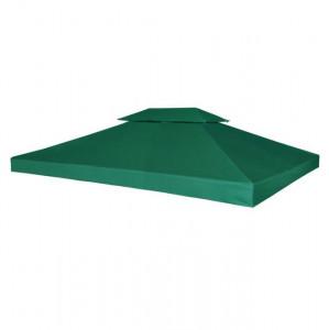 Copertină de rezervă acoperiș foișor, verde, 3 x 4 m, 310 g / m²