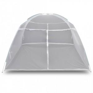 Cort camping, alb, 200x150x145 cm, fibră de sticlă