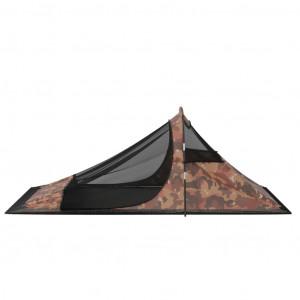 Cort de camping, camuflaj, 317x240x100 cm