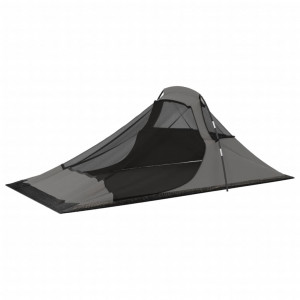 Cort de camping, portocaliu și gri, 317x240x100 cm