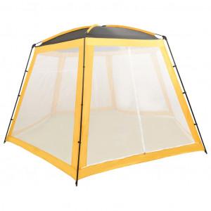 Cort de piscină, galben, 500x433x250 cm, țesătură