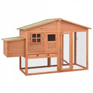 Coteț de păsări, cu zonă de cuibărit, lemn masiv de brad