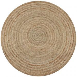 Covor din iută împletită, 120 cm, rotund