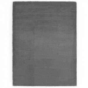 Covor, gri închis, 160 x 230 cm, blană ecologică de iepure