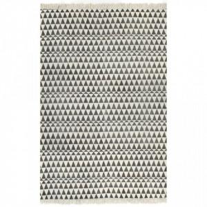 Covor Kilim, negru/alb, 120 x 180 cm, bumbac, cu model