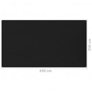 Covor pentru cort, negru, 250x450 cm