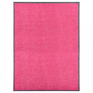 Covoraș de ușă lavabil roz 90x120 cm