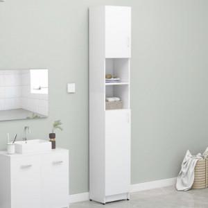 Dulap de baie, alb, 32 x 25,5 x 190 cm, PAL