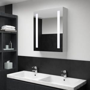 Dulap de baie cu oglindă și LED-uri, 50 x 13 x 70 cm