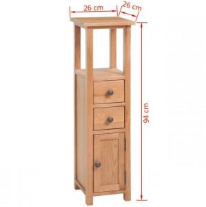 Dulap de colț, 26 x 26 x 94 cm, lemn masiv de stejar