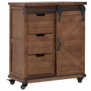 Dulap de depozitare, lemn masiv de brad 64 x 33,5 x 75 cm, maro