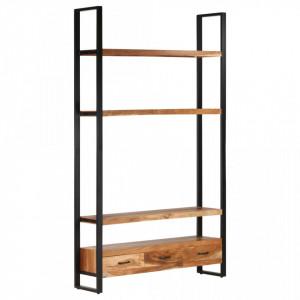 Dulap înalt, 118 x 30 x 200 cm, lemn masiv de acacia