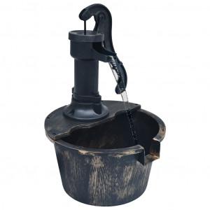Fântână de apă de grădină cu butoi, cu pompă