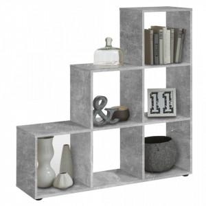 FMD Paravan de cameră cu 6 compartimente, gri beton