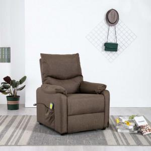Fotoliu de masaj rabatabil, maro, material textil