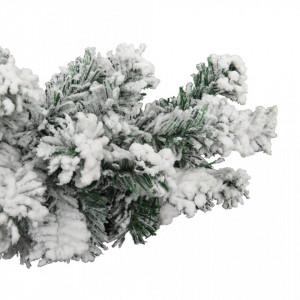Ghirlandă de Crăciun cu zăpadă, verde, 10 m, PVC