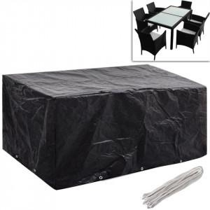 Huse mobilier grădină 2 buc. set poliratan 10 ocheți 240x140 cm