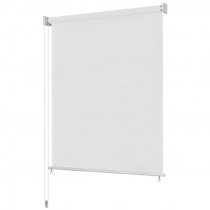 Jaluzea tip rulou de exterior, alb, 60x140 cm, HDPE