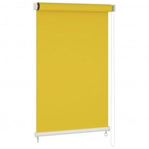 Jaluzea tip rulou de exterior, galben, 140x230 cm