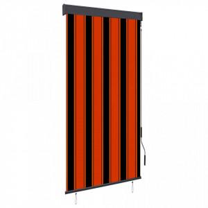 Jaluzea tip rulou de exterior, portocaliu și maro, 80 x 250 cm