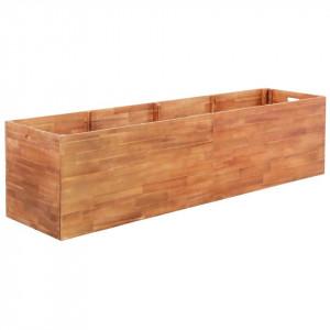 Jardinieră de grădină, lemn de acacia, 200 x 50 x 50 cm