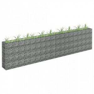 Jardinieră gabion, 360 x 30 x 90 cm, oțel galvanizat