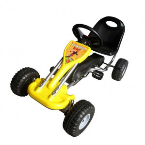 Kart cu pedale Go Kart, galben