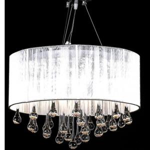 Lampă de tavan cu 85 cristale albe