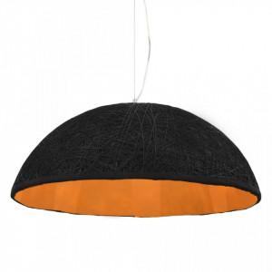 Lampă suspendată, negru și auriu, Ø70 cm, E27