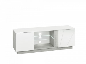 Lumens 09 comoda tv beton/white high gloss