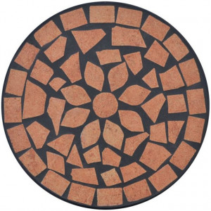 Masă cu blat ceramic, Roșu-portocaliu